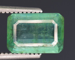 1.30 carats Natura lgreen  color Emerald gemstone
