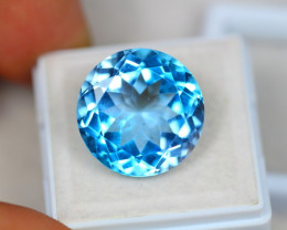 20.31ct Swiss Blue Topaz Round Cut Lot V3375