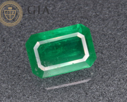 GIA Certified Natural Rare Emerald 3.85 Cts  from Sandawana Mine, Zimbabwe