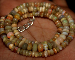 54 Crt Natural Ethiopian Welo Fire Opal Beads 140