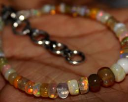 21 Crt Natural Ethiopian Welo Fire Opal Beads Bracelet 10