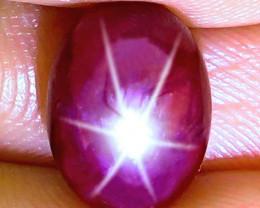 1$NR - 6.47 Carat Fiery Star Ruby - Gorgeous