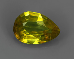 FINIST EVER~MAGNIFICENT NATURAL RARE QUALITY FANCY SPHENE PEAR!!