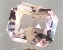 1.7 ct Luminous Emerald Cut Pinkish Peach Morganite NR10
