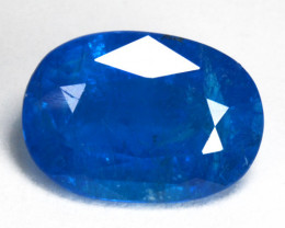 2.63 Cts Natural Neon Blue Apatite Oval Cut Madagascar
