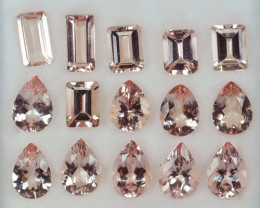 21.56Ct Stunning Natural Pink Morganite mixed Parcel