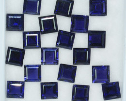 26.78Ct Gorgeous Square Cut 7 mm Tanzanite Hue 100% Natural Iolite