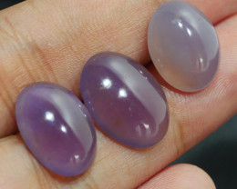 17.00 CRT 3PCS NATURAL INDONEISAN PURPLE CHALCEDONY AA GRADE-H19-