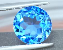 7.00 mm Round 1.75ct Sswiss Blue Topaz
