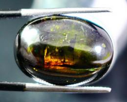 17.55 Ct Unheated ~ Natural Superb Green Epidot  Cabochon