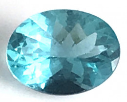 Bright Neon Blue Oval Apatite - Africa