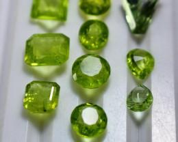 11.80 CT Natural - Unheated  Green Peridot Gemstone lot