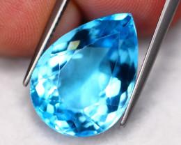 17.86Ct Natural VVS Swiss Blue Topaz Pear Cut  B2204