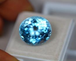 18.98Ct Swiss Blue Topaz Oval Cut Lot B441