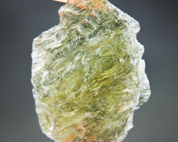 Healing Moldavite with Olive green color