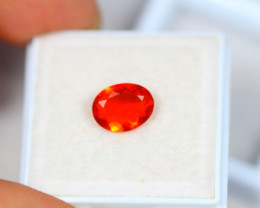 0.96ct Mexico Fire Opal Oval Cut Lot V3413