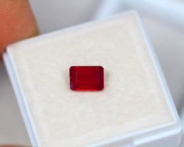 1.45ct Blood Red Color Ruby Composite Octagon Cut Lot V3402