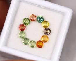 2.83ct Fancy Color Sapphire Round Cut Lot GW3221