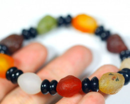 142.0Ct Natural Candy Agate Bracelet