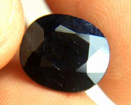 6.58 Carat Midnight Blue Heat Only Sapphire - Beautiful