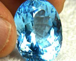49.63 Carat Blue Brazilian VVS Topaz - Gorgeous