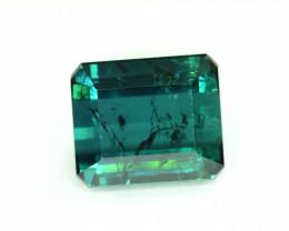13.10 Carats Emerald Cut Bluish Green Tourmaline Loose Gemstone
