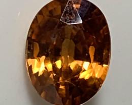 1.95ct Orange Bronze Zircon VVS  No reserve ~ VVS GEM