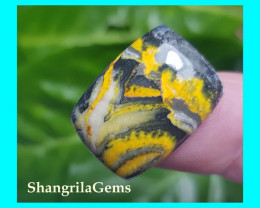 20mm BumbleBee Jasper AAA quality 14.3ct 20 by 15 by 5mm from Indonesia