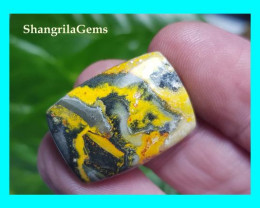 25mm BumbleBee Jasper AAA quality 20ct 25 by 18 by 5mm from Indonesia