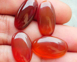 22.70 CRT 4 PCS NATURAL INDONESIAN PARCEL CABS CARNELIAN CHALCEDONY-J15-