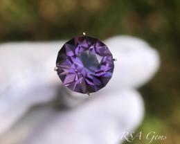 Amethyst Round Brilliant - 3.97 carats