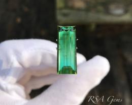 Green Tourmaline Classic Cut - 12.39 carats