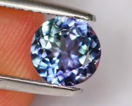 1.10cts Natural Violet Blue Top Round Cut Tanzanite / 301