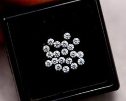 1.3mm Natural H Colour VS Loose Diamond 20pcs Lot