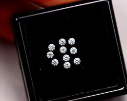1.6mm Natural H Colour VS Loose Diamond 10pcs Lot