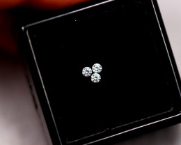 1.6mm Natural F Colour VS Loose Diamond 3pcs Lot