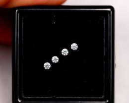 1.6mm Natural F Colour VS Loose Diamond 4pcs Lot