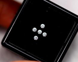 1.6mm Natural G Colour VS Loose Diamond 5pcs Lot