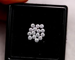 1.6mm Natural H Colour VS Loose Diamond 15pcs Lot