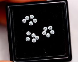 1.4mm Natural H Colour VS Loose Diamond 15pcs Lot