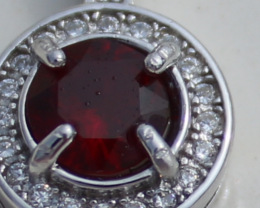 Winza Ruby 1.50ct,White Gold Plated,Solid Sterling Silver Pendant