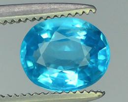 Great Luster 0.95 ct Rarest Neon Blue Color Apatite
