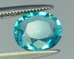 Great Luster 1.30 ct Rarest Neon Blue Color Apatite