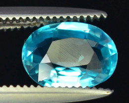 Great Luster 1.05 ct Rarest Neon Blue Color Apatite