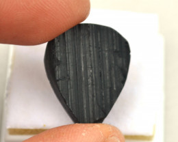 31.50 Carat Fantastic Black Tourmaline Semi Rough Crystal Cabochon