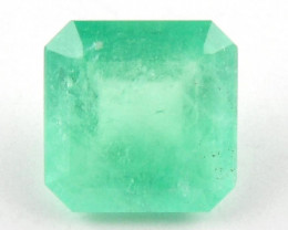 2.07 ct Green Gem Natural Colombian Emerald Cut Loose Gemstone Stone