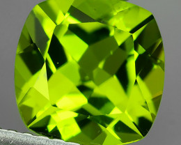 2.15 Cts.Magnificient Top Sparkling Intense Green-8 mm~Cushion ~ NR!!!