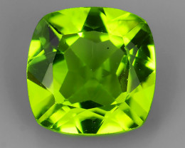 2.10 Cts.Magnificient Top Sparkling Intense Green-8.10 mm~Cushion ~ NR!!!