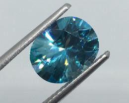 3.07 Carat VVS carat Zircon Caribbean Blue Exquisite Flash and Color !
