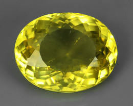 3.90~CT OUTSTANDING OVAL CUT UNHEATED YELLOW APATITE EXCELLENT!!